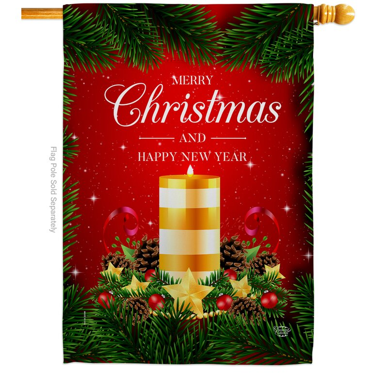Ornament Collection Christmas Candle Impressions Decorative 2 Sided Polyester 40 X 28 In House Flag Wayfair