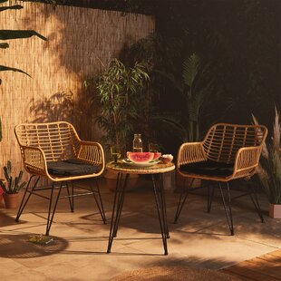 Evadne 2 Seater Bistro Set With Cushions By Bay Isle Home