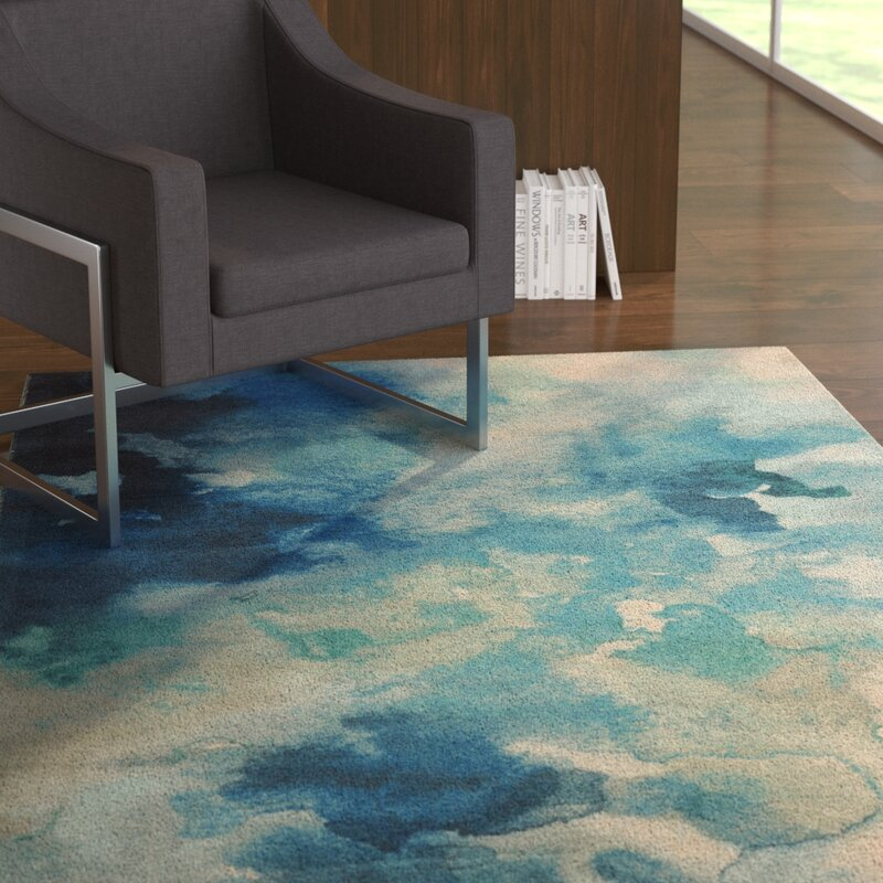 Ebern Designs Mariam Abstract Tufted Blue Pink Area Rug Reviews Wayfair