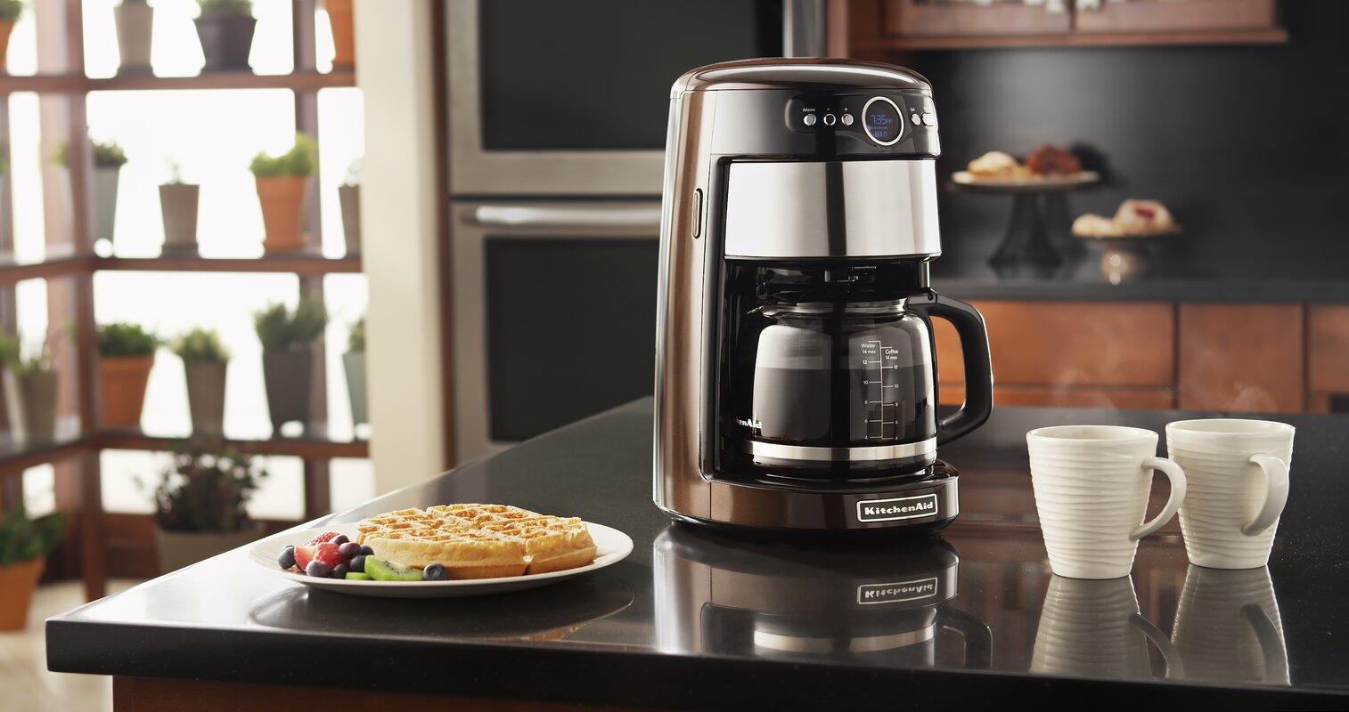 KitchenAid 14 Cup Glass Carafe Coffee Maker & Reviews | Wayfair