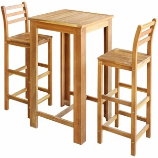 Abbie 3 Piece Pub Table Set by..