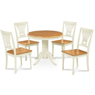 Dahlke 5 Piece Solid Wood Dining Set by August Grove Purchase