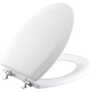 Kohler Triko Elongated Toilet Seat with Polished Chrome Hinges