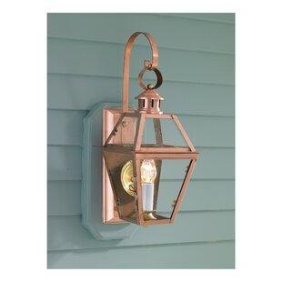 Ximena 1-Light Outdoor Wall Lantern by Breakwater Bay