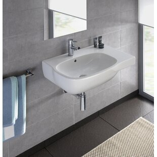 Moda Vitreous China 26 Wall Mount Bathroom Sink with Overflow Bissonnet