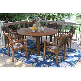 Round table with lazy susan wayfair mallie eucalyptus and sling lazy susan 7 piece dining set workwithnaturefo