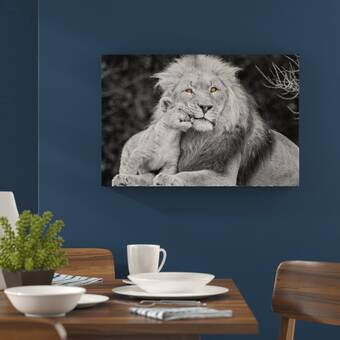 Wall Décor Logical Set Of 3 Animal Canvas For Childrens Bedroom
