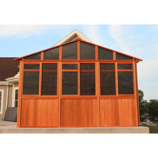 Solchalet 9 Ft. W x 13 Ft. D Solid Wood Patio Gazebo by Westview Manufacturing