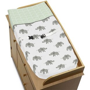 Reviews Elephant Changing Pad Cover By Sweet Jojo Designs