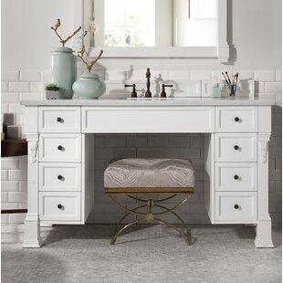 Bedrock 60 Single Cottage White Bathroom Vanity Set