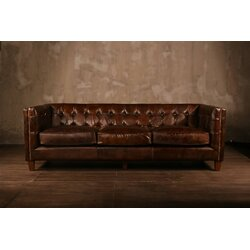 Superior Leather Chesterfield Sofa