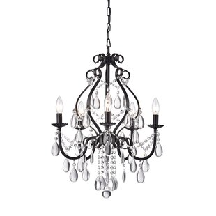Reviews Axl 5-Light Candle Style Chandelier By House of Hampton