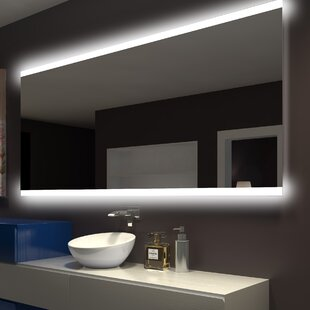 Top Keshwar Backlit Bathroom/Vanity Mirror By Orren Ellis