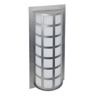 Reviews Caufield 2-Light Glass Outdoor Flush Mount By Latitude Run