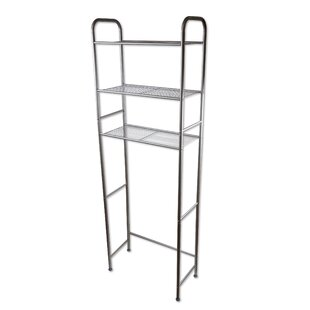 Orren Ellis Lacey 3 Tier Over the Toilet Space Saver Storage - Satin Nickel