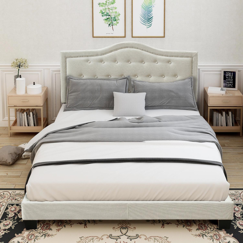 Red Barrel Studio Acura Queen Tufted Upholstered Low Profile Standard Bed Wayfair
