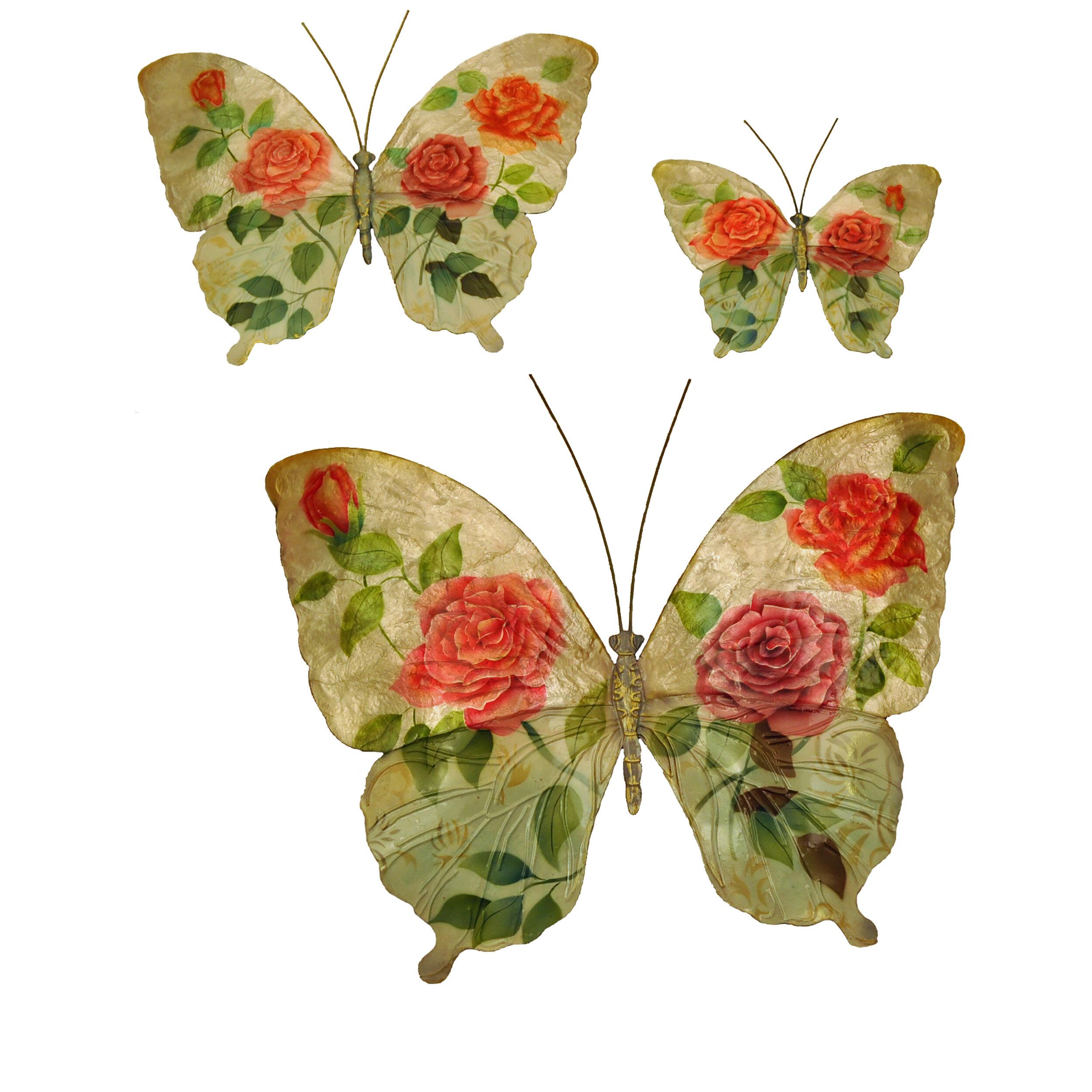 Eangee Home Design 3 Piece Butterflies Wall Décor Set   Wayfair
