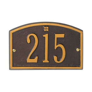 Cape Charles 1-Line Wall Address Plaque