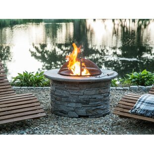 Tambora Stone Wood Burning Fire Pit By Sol 72 Outdoor
