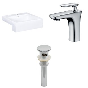 Price Check 20.25-in. W Semi-Recessed White Vessel Set For 1 Hole Center Faucet - Faucet Included ByAmerican Imaginations
