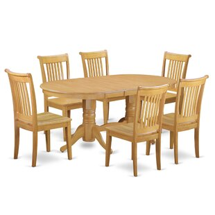 Daniella 7 Piece Extendable Solid Wood Dining Set Alcott Hill