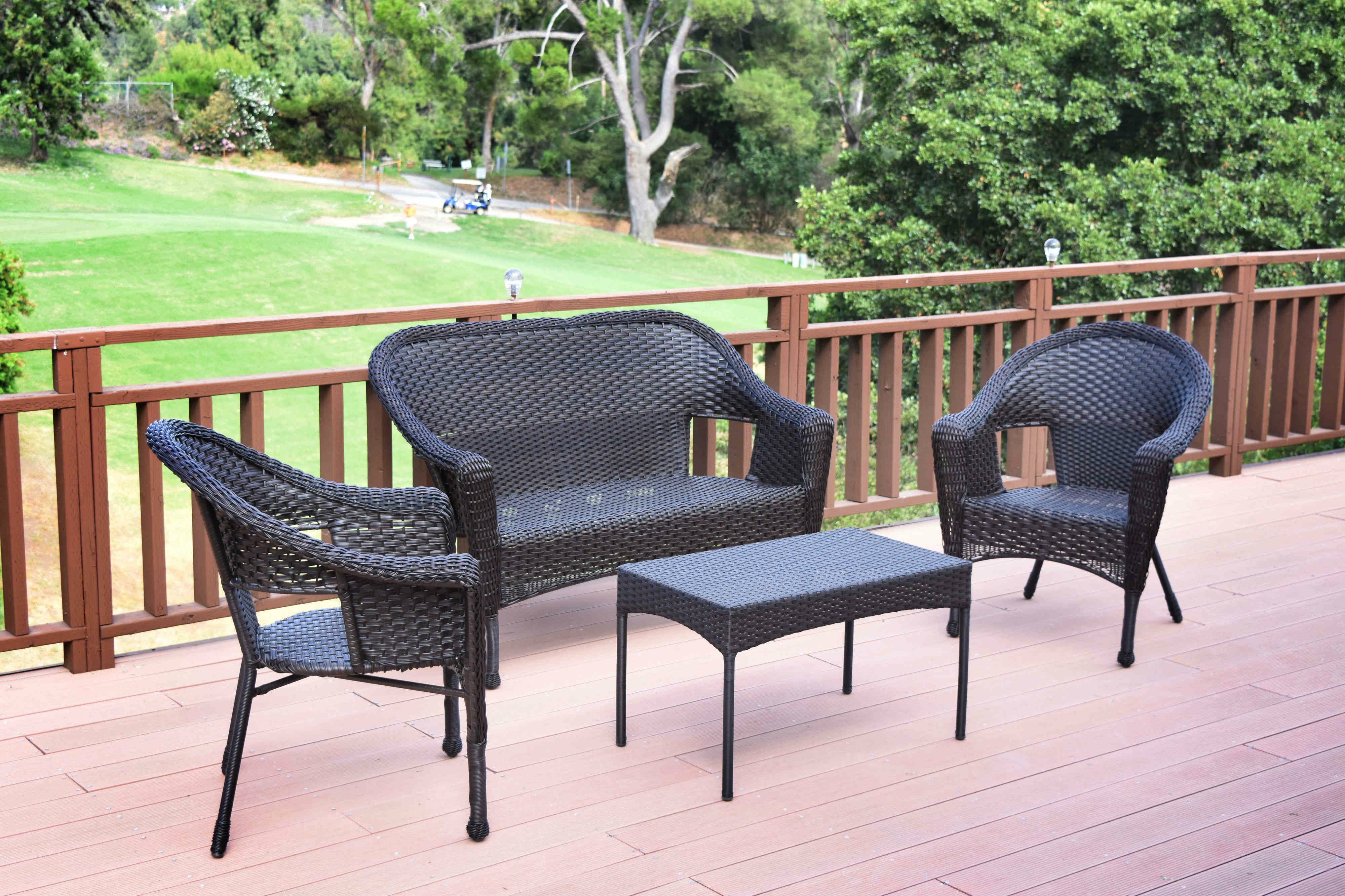 Alcott Hill Kentwood Resin Wicker 4 Piece Rattan Sofa Seating Group