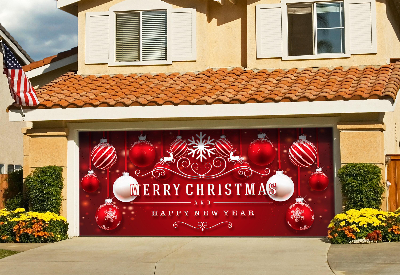 The Holiday Aisle Ornaments In Snow Garage Door Mural Reviews Wayfair