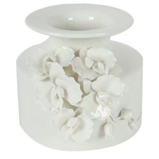 White Ceramic Table Vase