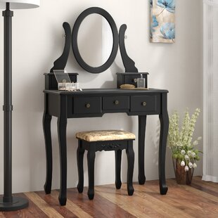 Fonso Dressing Vanity Set with Mirror by Darby Home Co