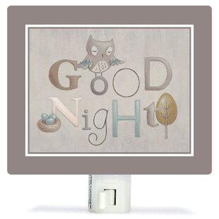 Oopsy Daisy Neutral Alphabet by Sarah Lowe Canvas Night Light