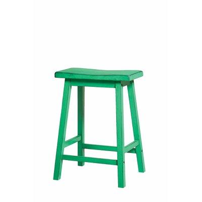 Swell Loar 24 Bar Stool Red Barrel Studio Color Antique Green Customarchery Wood Chair Design Ideas Customarcherynet