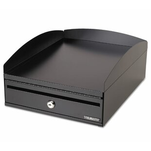 Steelmaster 1-Tier Desk Tray with Locking Box