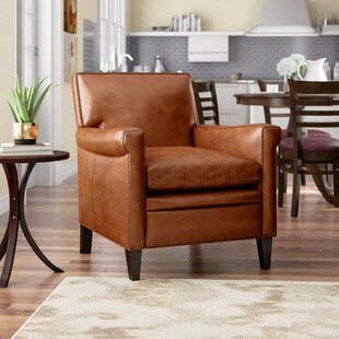 Luxury Genuine Leather Accent Chairs Perigold