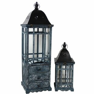 Wooden Lantern with Drawer..