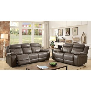 Red Barrel Studio Heitzman Contemporary Leather Manual Wall Hugger Configurable Living Room Set