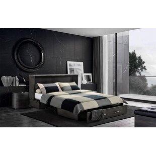 Brayden Studio Hague Seaside Queen Storage Murphy Bed with Mattress