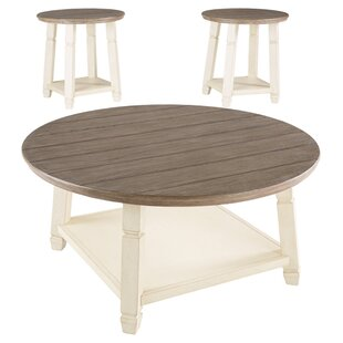 August Grove Hackett 3 Piece Coffee Table Set