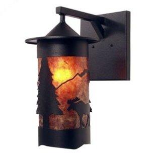 Moose 1-Light Outdoor Wall Lantern by Ste..