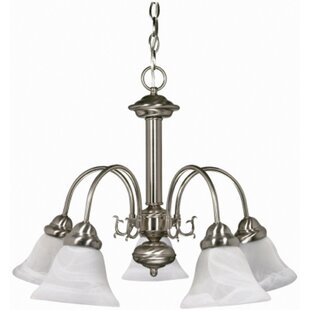 Ballerina 5-Light Shaded Chandelier by Monument