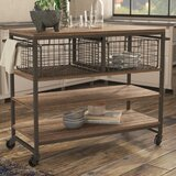 Shounak Kitchen Cart Solid + Manufactured Wood by 17 Stories