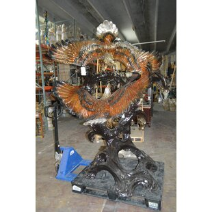 Heady 2 Eagles Fighting Giant Statue by Bloomsbury Market