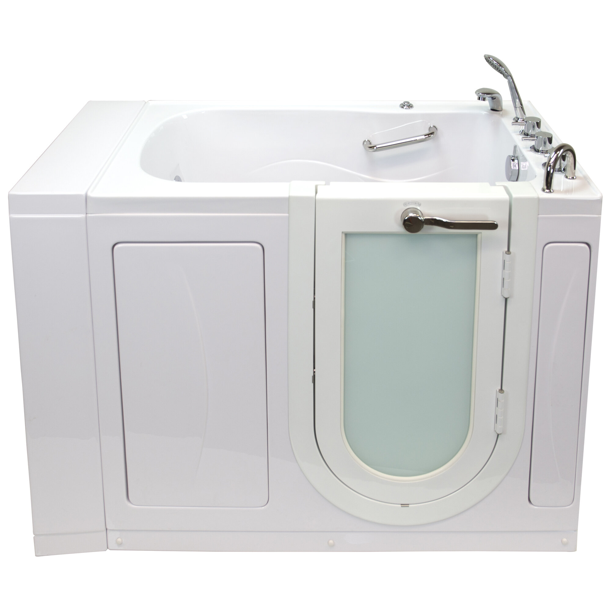 Ella Walk In Bath Monaco Hydro Massage 52 X 32 Walk In Whirlpool Bathtub With Thermo Faucet Set Wayfair