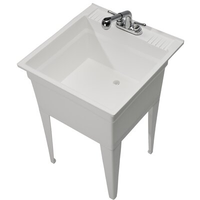 """Heavy Duty 23.75"""" x 24.75"""" Freestanding Laundry Sink with Faucet Cashel"""