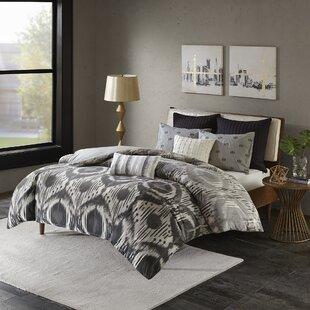 Wrought Studio Fossum 100% Cotton 3 Piece Reversible Comforter Set