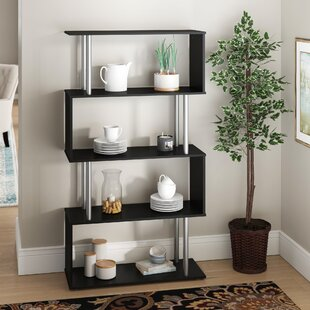 Mosses Modern S-Shaped 5 Tier Room Dividing Standard Bookcase