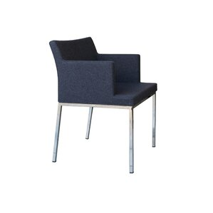 Soho Metal Base Wool Arm Chair by B&T Design