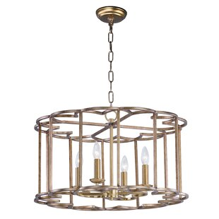 Rosdorf Park Delana 4-Light Drum Chandelier