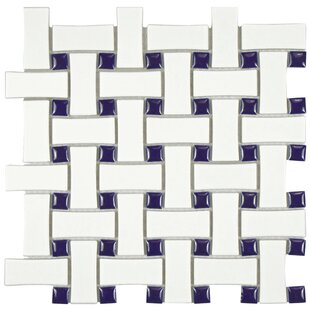 Retro Basket Weave Porcelain Mosaic Tile