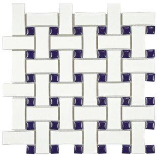 Retro Basket Weave Porcelain Mosaic Tile