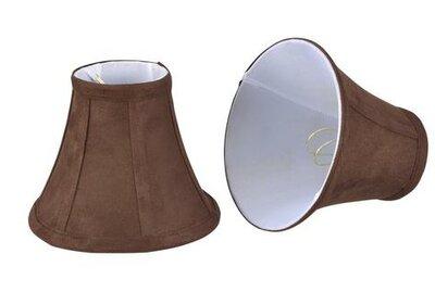 "6"" Suede Bell Candelabra Shade Aspen Creative Corporation"